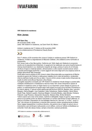 Comunicato stampa Kim Jones VIR Open Day