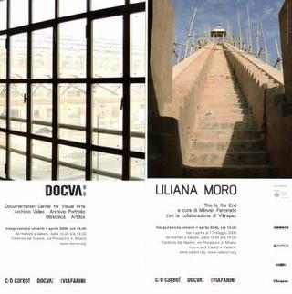 Invito mostra personale di Liliana Moro - Invito inaugurazione DOCVA Documentation Center for Visual Arts, 2008.