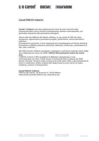 Profilo Careof DOCVA Viafarini