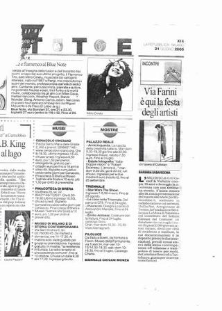Articolo del critico Barbara Casavecchia su Repubblica.
