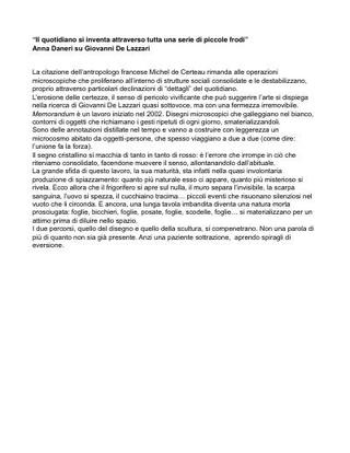 Testo di Anna Daneri su Giovanni De Lazzari.