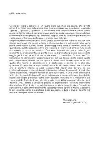 Testo di Michela Sena su Nicola Gobbetto.