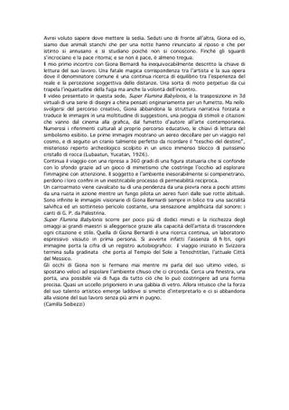 Testo di Camilla Seibezzi su Giona Bernardi.