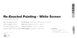Re-Enacted Panting - White Screen - invito