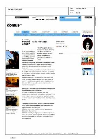 Articolo su Domus