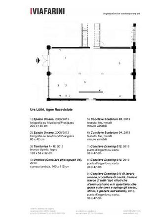 Mappa dell'allestimento