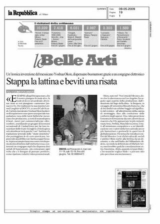 Recensione sul quotidiano La Repubblica, a cura di Barbara Casavecchia