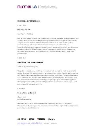 Programma dettagliato dei laboratori