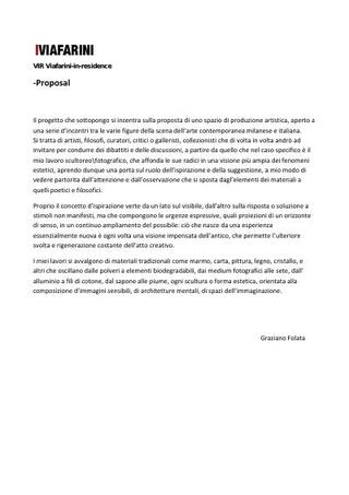 Graziano Folata, proposta a VIR.