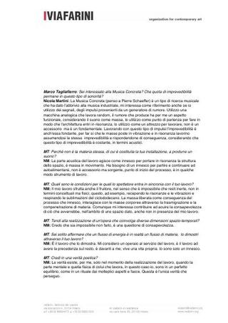 Intervista di Marco Tagliafierro