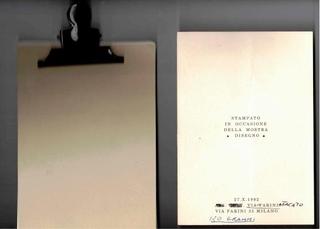 """Edizione stampata in occasione della mostra """"Disegno"""", 27 ottobre 1992"""
