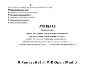 ATPdiary, 8 Ragazzi(e) al VIR Open Studio, Dicembre 19, 2013, articolo di Francesca Verga