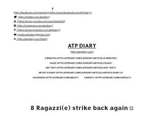 ATPdiary, 8 Ragazzi(e) strike back again ⚂ Febbraio 24, 2014, testo e  conversazioni curate da Valeria Marchi