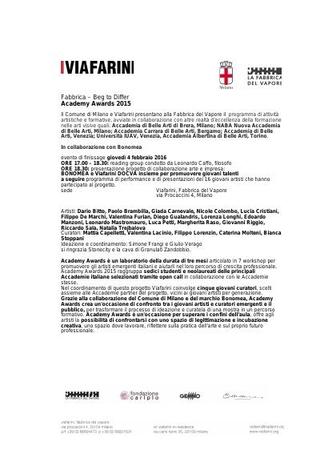 Comunicato stampa e descrizione dei workshop