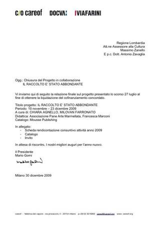 Relazione finale per la Regione Lombardia