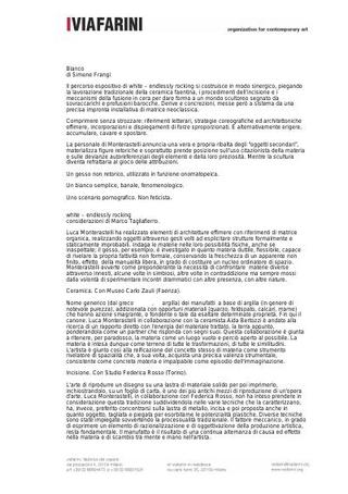 Testi critici di Marco Tagliafierro e di Simone Frangi