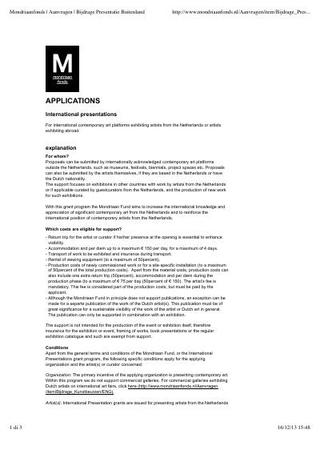 Linee guida della Mondriaan Fund